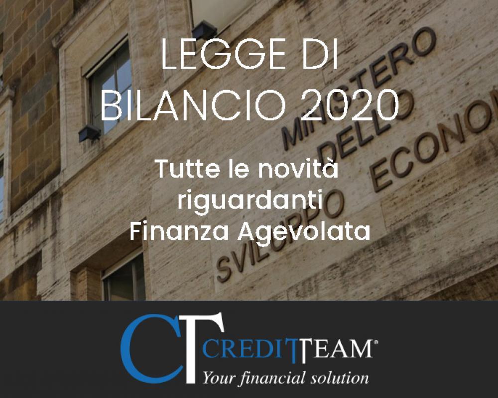 Nuova legge di bilancio 2020, ecco tutte le novità della Finanza Agevolata