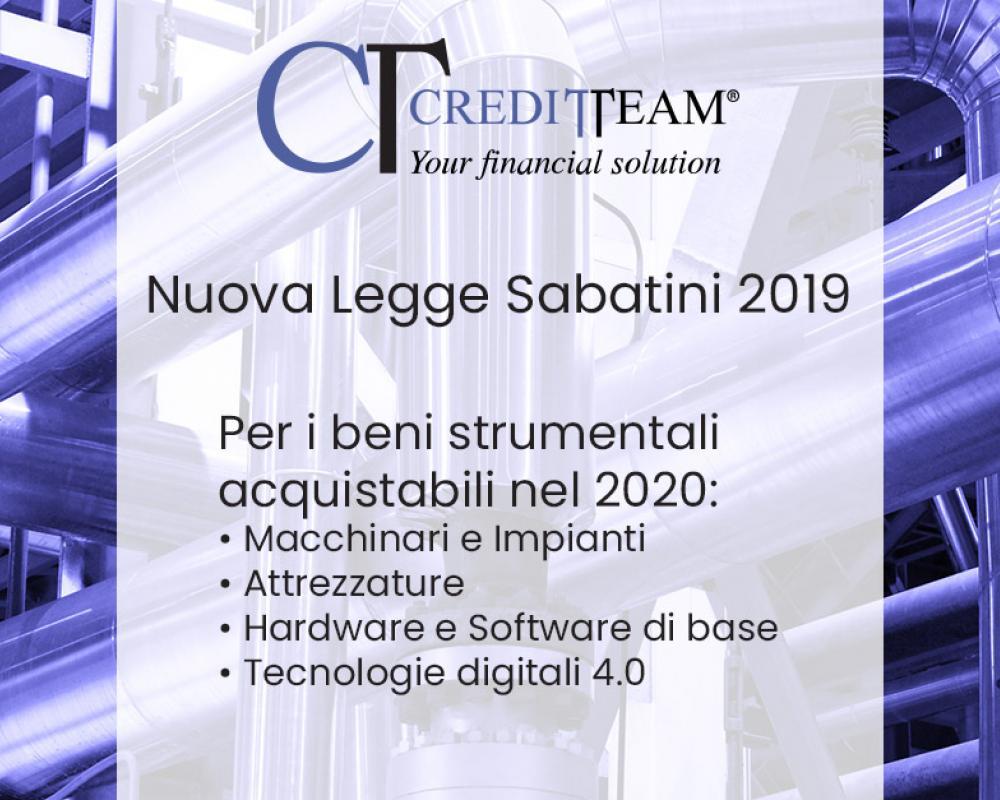 Nuova Legge Sabatini ter (2019) per beni strumentali acquistabili nel 2020