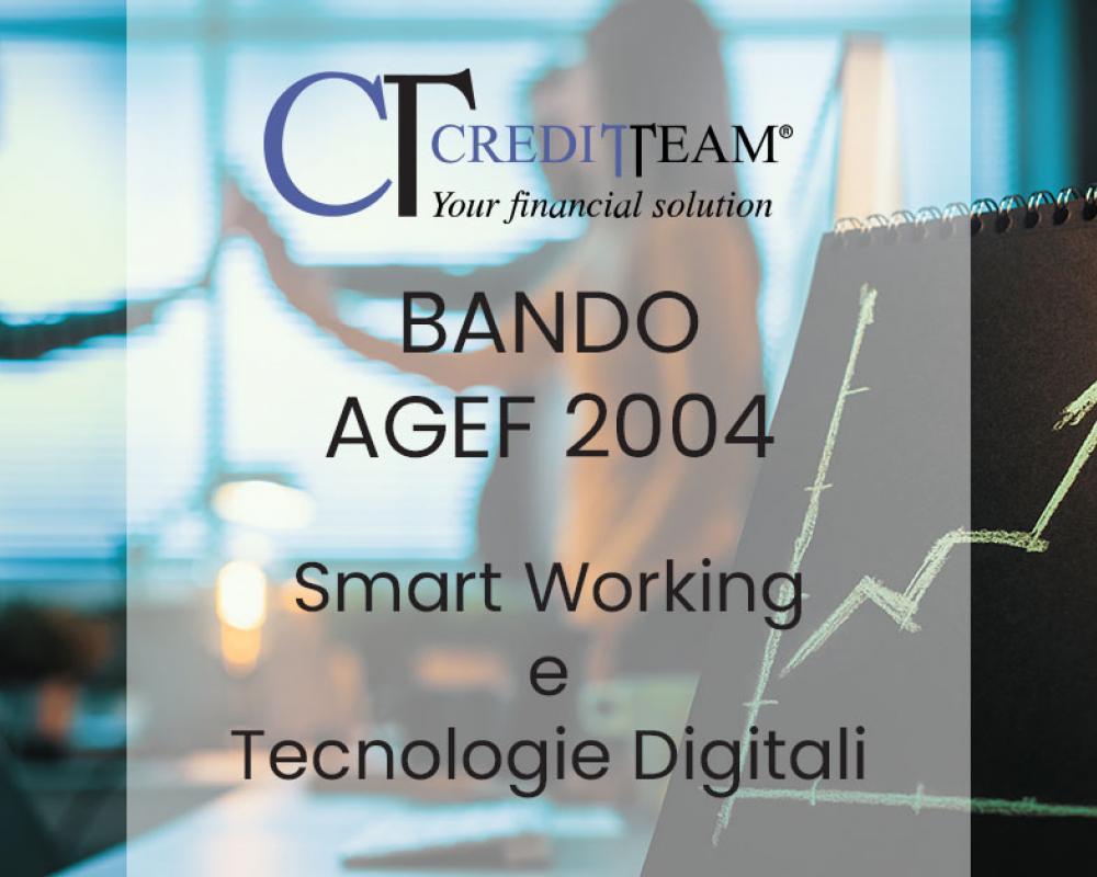 Bando AGEF 2004: Smart Working e la diffusione delle tecnologie digitali