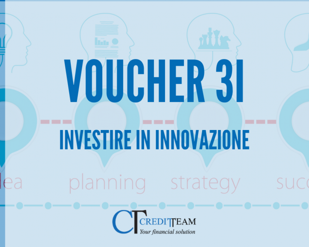 19,5 milioni di euro per i VOUCHER 3I-Investire in Innovazione.