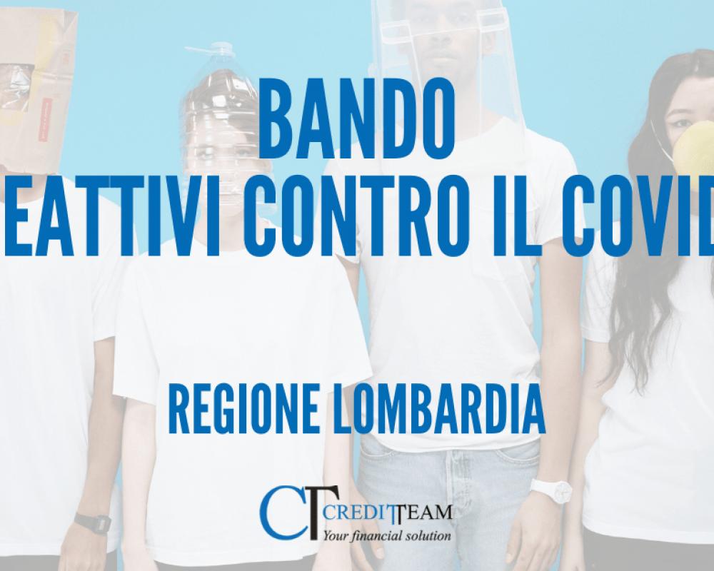 """BANDO """"REATTIVI CONTRO IL COVID"""":  10 milioni di euro per le PMI lombarde"""