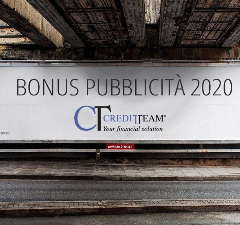 BONUS PUBBLICITA' 2020: CONFERMATA OPPORTUNITA' ANCHE PER INVESTIMENTI PUBBLICITARI 2020