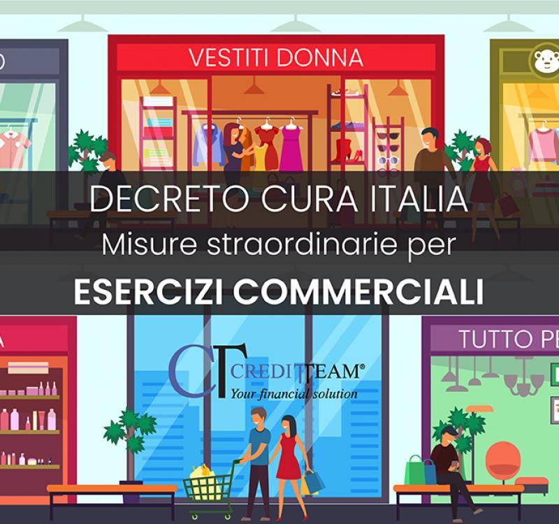 DECRETO CURA ITALIA MISURE STRAORDINARIE PER ESERCIZI COMMERCIALI