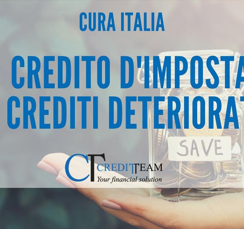 DECRETO CURA ITALIA: CREDITO D'IMPOSTA IN CAMBIO DELLA CESSIONE DEI CREDITI DETERIORATI