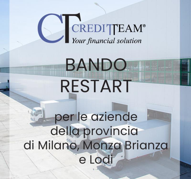 FINANZA AGEVOLATA MILANO: BANDO RESTART 5.000,00 EURO A FONDO PERDUTO